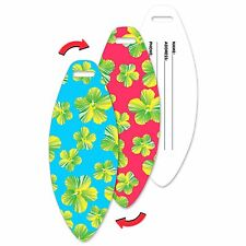 Lenticular Flip Luggage Bag Travel Tag Surf Board Shape Flower LTSB-356
