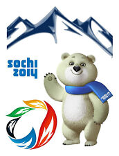 Sochi Hiver Jeux Olympiques 2014 Sotchi Russie Olympique Neige Ours Patch