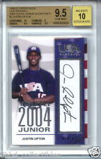 JUSTIN UPTON 2006 04 Upper Deck USA #/475 AUTO rookie BGS 9.5 GEM MINT ! 1 of 2!