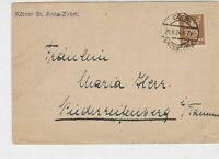 Germany 1924 Coln Cancel Official Stamps Card Ref 32189