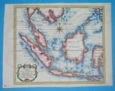 1752 ORIGINAL MARINE MAP EAST INDIES SIAM MALAYSIA THAILAND INDONESIA BATAVIA