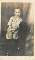 Cute Toddler Portrait Antique RPPC Real Photo Postcard B11