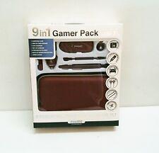 New Burgandy dreamGEAR Nintendo DSi XL 9 in 1 Starter Kit Case Stylus Earbuds