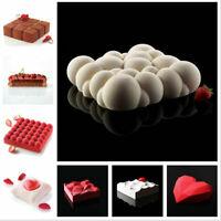 3D Silicone Cake Mold Chocolate Mousse Mould DIY Cupcake Baking Pan Bakeware