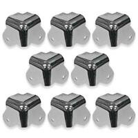 8 Pack of 2 Leg Nickel Corners Replacement for PA DJ Speakers Amp Cabinet Subs