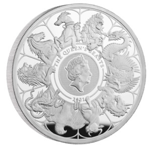 In Stock - The Queen's Beasts 2021 UK Two-Ounce Silver Proof Coin (w/ Box & COA)