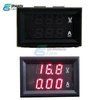 DC 0-100V 10A LED Digital Volt Amp Meter Voltmeter Ammeter Gauge Dual Red Panel