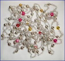 Christbaumkette - 8 Tinselketten mit  Glaskugeln - 10,9 m   (# 5952)