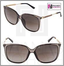 48f73777cbe51 GUCCI Oversized Square Metal GG3859S Gold Grey Stripe ASIAN FIT Sunglasses  3859