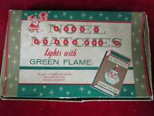 Vintage 1950s Noel Christmas Matches 7 Gold Foil Boxes Light w/Green Flame