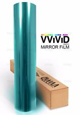 One way mirror vision blue window film 2ft x 5ft VViViD privacy UV block reflect