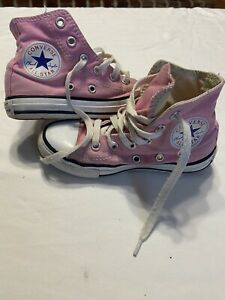 converse all star chuck taylor high top pink Vintage child size 11