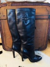 Original Louis Vuitton Lederstiefel schwarz