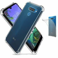 Clear Shockproof Thin Slim Case Cover for LG Q60