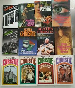 12 x Agatha Christie, gebundene Ausgaben, Bücherpaket, Sammlung