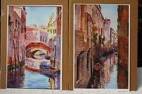 2 x LIMITED EDITION VENETIAN CANAL PRINTS BY US ARTIST CECY TURNER UNMOUNTED