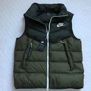 Nike Windrunner Down Fill Vest Men's SZ Large Green NWT 928859-355