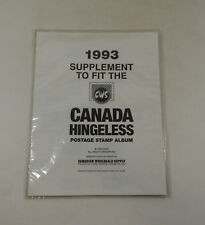 Canadian Wholesale Supply Canada Hingeless 1993 Supplement Stamp Album Pages