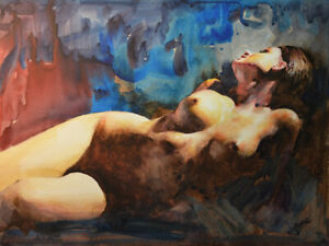 Original painting by American Artist Jae H Jung / Nude #0006WR