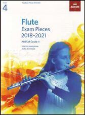 Flute Exam Pieces 2018-2021 ABRSM Grade 4 Sheet Music Book with Audio