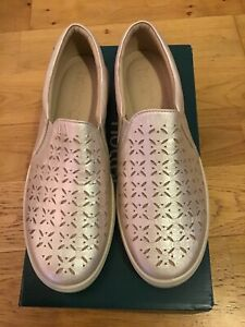 Hotter Daisy Nubuck Casual Slip on Shoes in Iridescent - Size 5.5
