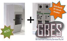 Noark DC Circuit Breaker 32A 2 Pole & Switchboard Enclosure Clipsal 4CC2 Combo