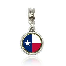 Texas State Flag Euro European Italian Style Bracelet Bead Charm