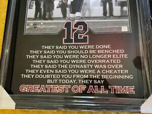 RARE Tom Brady Patriots Framed Photo of Greatest NFL Quarterback Ever GOAT READ!