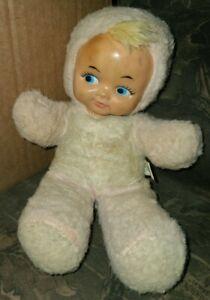 "Vintage Gund Creation Rubber Face Doll Stuffed Plush, 10"" Tall, Sani-Foam, Dolli"