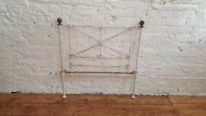 Vintage Painted Iron Rust Shabby Chic Victorian 3ft Bed Head Decorative Trellis