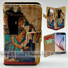 Wallet Phone Case Flip Cover for Samsung Galaxy S6 - Ancient Egypt Illustration