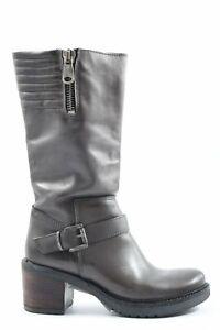 BIONDINI Absatz Stiefel Damen Gr. DE 36 hellgrau High Boots Heel Boots