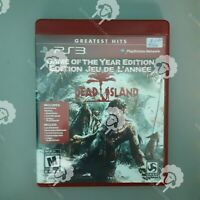 DEAD ISLAND   ( PS3 Playstation 3 Sony ) TESTED