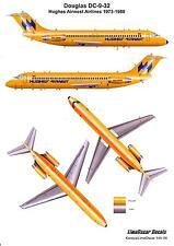 Karaya Models Decals 1/144 DOUGLAS DC-9-32 Hughes Airwest Airlines 1973-1980