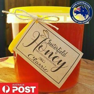 100% Australian Honey Raw Organic Pure 3kg - Direct from the Beekeeper