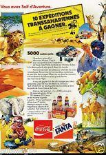 Publicité advertising 1981 Jeu Concours Coca Cola Fanta