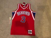 Allen Iverson Sixers 76ers Mitchell Ness 1996-97 HWC Swingman Jersey RETAIL$130