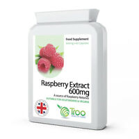 Raspberry Extract 600mg 60 Capsules High Strength source of raspberry ketones