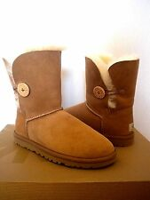UGG~ Bailey Button Boots Chestnut suede~ US 6/ 37 (Fits US 7) New #5803