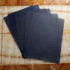 Bath & Decor Reversible Basket Weave Table Mats--Set Of 6 Pcs ( Ink Blue )