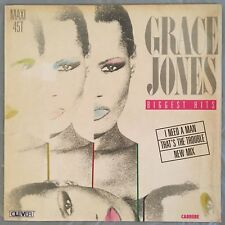 GRACE JONES - Biggest Hits (Vinyl EP/LP 45RPM) Carrere 8420