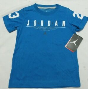 Jordan Air Blue Youth Boy's  T-  Shirt Size 5