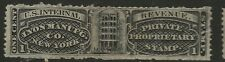 RS 167d-LYON MANUFACTURING 1 CENT MATCH AND MEDICINE STAMP--60