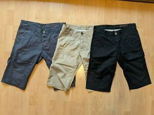 3x Shorts / Bermuda / Kurze Hose * edc by Esprit * Straight Fit * Gr. 31 / 32 *