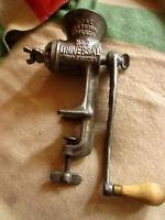 1899 Universal Model No. 2 Food & Meat Chopper Grinder Wooden Handle Antique