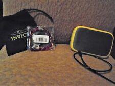 Invicta Portable Wireless Speaker with FM Radio Yellow 31494 & Invicta Bracelet.