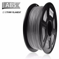 SUNLU ABS 3D Printer Filament 1.75mm 1KG/2.2LB Spool Grey ABS High Quality