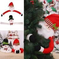 Christmas Santa Claus Snowman Toy Doll Xmas Tree Wrap Topper Decor Decorate Gift