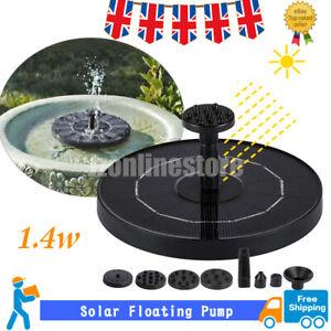 Solar Fountain Pump Powered Floating Bird Bath Water Garden Pond Pool Outdoor UK