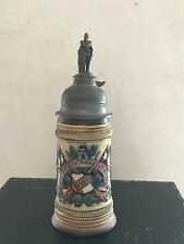 German Military Beer Stein Hand Crafted